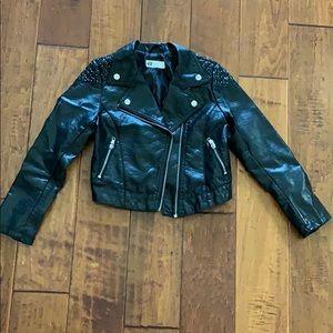 Girl's Vegan Leather Jacket